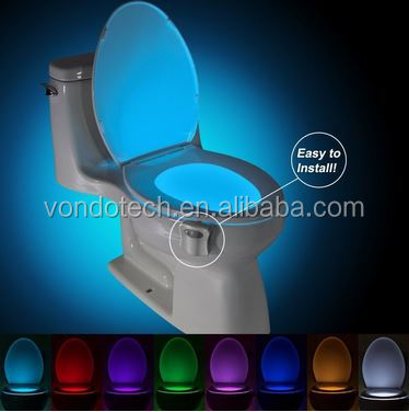 2017 Wholesale Low Price Hot Selling 8 Colors Changing Toilet Sensor Light LED Toilet, LED Toilet Bowl Night Lights