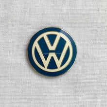 Chrome Silver enamel Car Emblem Badge for VW Car Logo