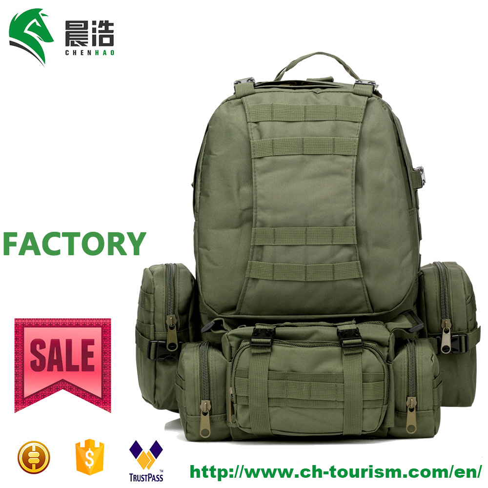 55L Hot Sale Military Tactical Backpack Green Utility Outdoor Camping Hiking Trekking MOLLE Combination Bag