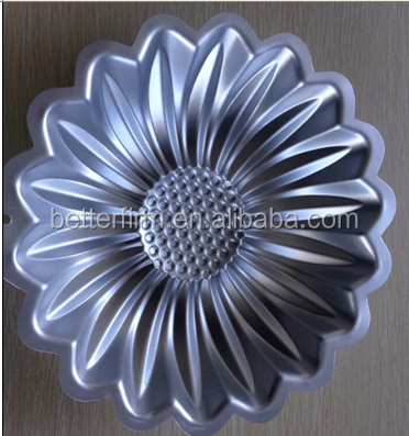 Sunflower Shaped Cake Pans, Carbon Steel Iron Cake Mold(BF-MC-17)
