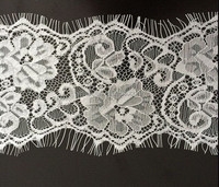 Nylon Jacquard Eyelash lace fabric
