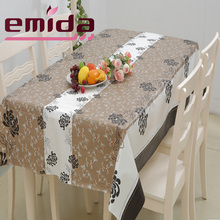 Emida fantastic Waterproof oilproof petal pattren rectangle and western plastic tablecloth