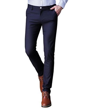 Men's Slim Fit Stretch Fabric Casual Wear Suit Pant