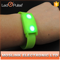 Promotional Multi Color Motion Activated Light Up Thick Silicone Led Bracelet