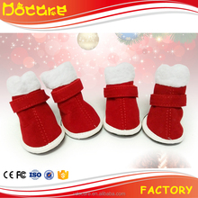 Christmas Winter Pet Dog Shoes Warm Non-slip Velcro Boots