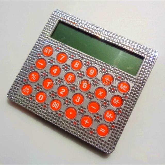 2016 hot sale big size desktop calculator with diamond