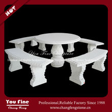 Outdoor Carved Natural Garden Stone Tables and Chairs