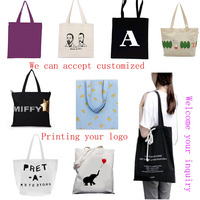 2016 Superior Quality Cotton With Laminated 100% Natural Recycled Organic Cotton Bag Shopping Bag Tote Bag