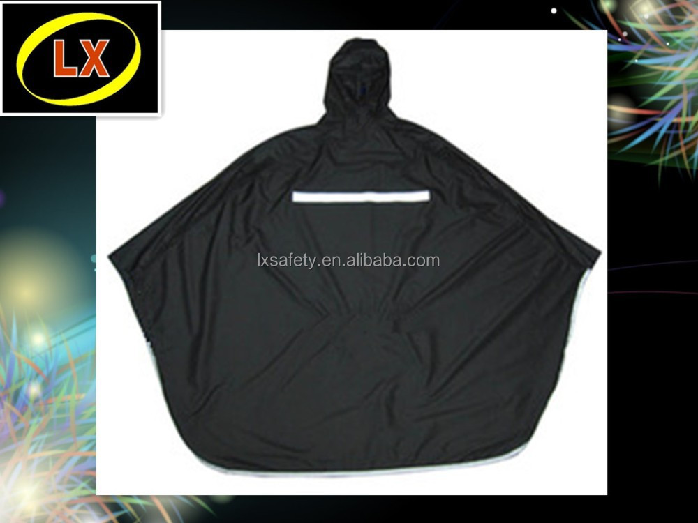 Hi Vis Protection Safety Security Reflective Rainwear Rain Poncho