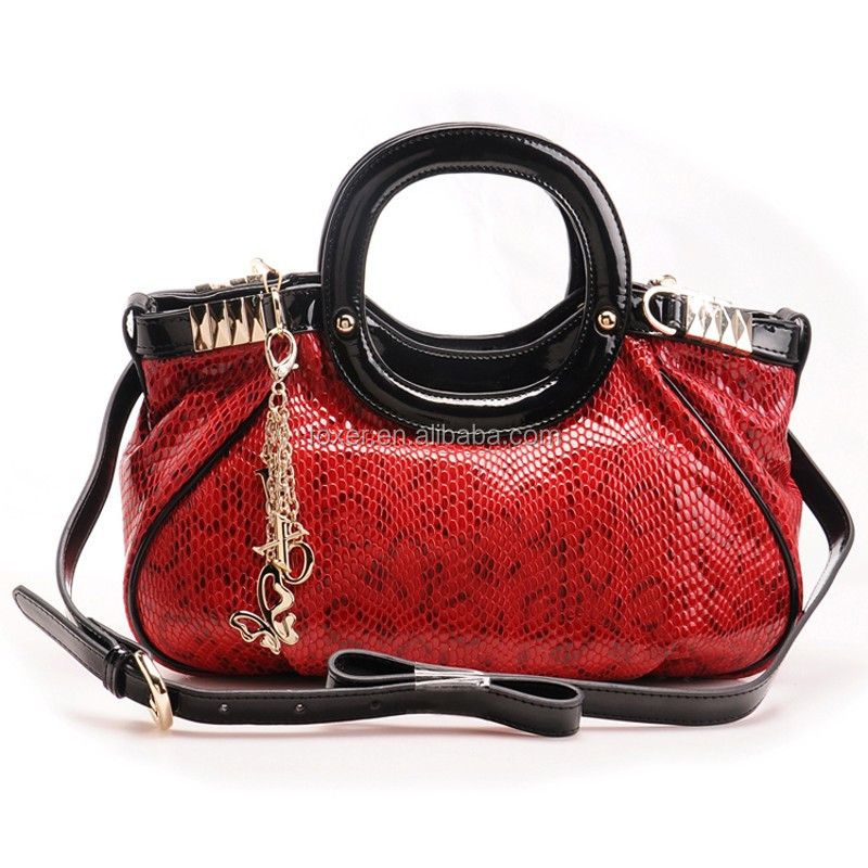 leather snake pebble small delicate handmade leather bag wholesale