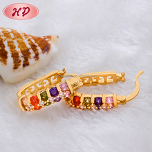 wholesale Popular fashion jewelry 18k gold plated cheap earrings made in china