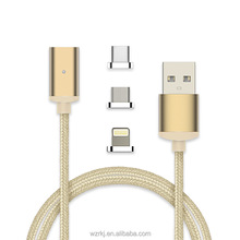 High Quality Magnetic Nylon Braided Lightniing,Micro USB,Type C Charge,Data Transfer for Smartphone etc.