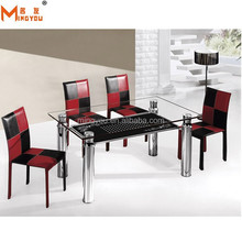hot sale smoked tempered glass chromed table
