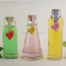 wholesale different designs glass bottle with cork