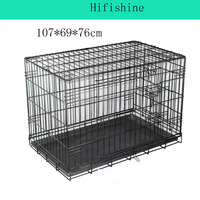2016 dog pet products o fwire mesh quail folding cage wire dog cage