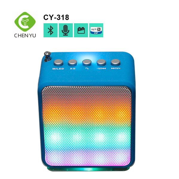 Metal Mini Portable Bluetooth Speaker Mic TF Card Slot Stereo Speakers for mobile phone Laptop MP3 MP4 Player