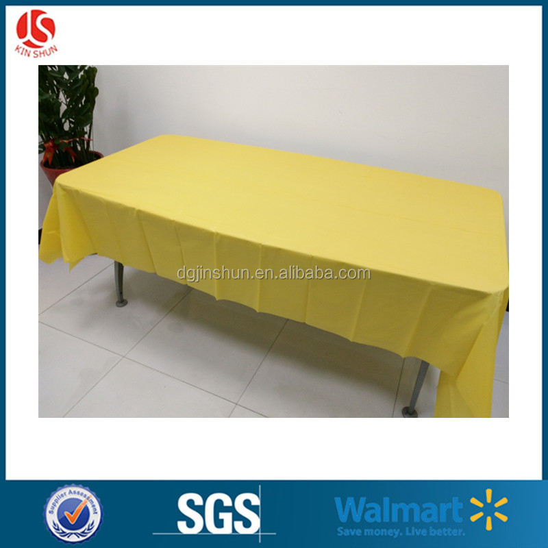 Hot sale plastic vinly table cover thick plastic clear PEVA tablecloth in roll