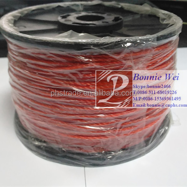 Australian popular Electric Twisted poly wire