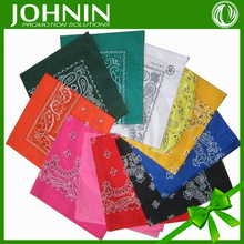 Custom design New Fashion colorful polyester JOHNIN brand handkerchief