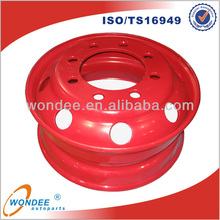7.50*22.5 Tubeless Steel Trailer Truck Wheel in China