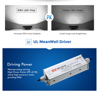 with MEANWELL driver 100w constant current led driver discount product 90lm/w spot lights led