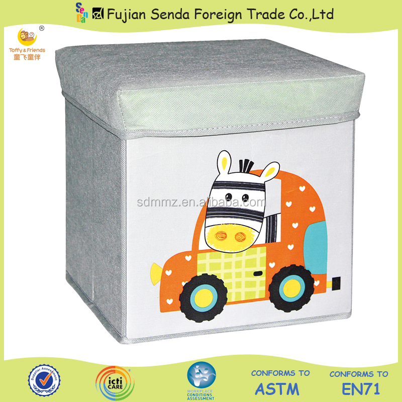hot sale! kids car foldable nonwoven fabric storage box
