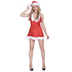 christmas new year party fancy dress adult woman miss santa costume for women