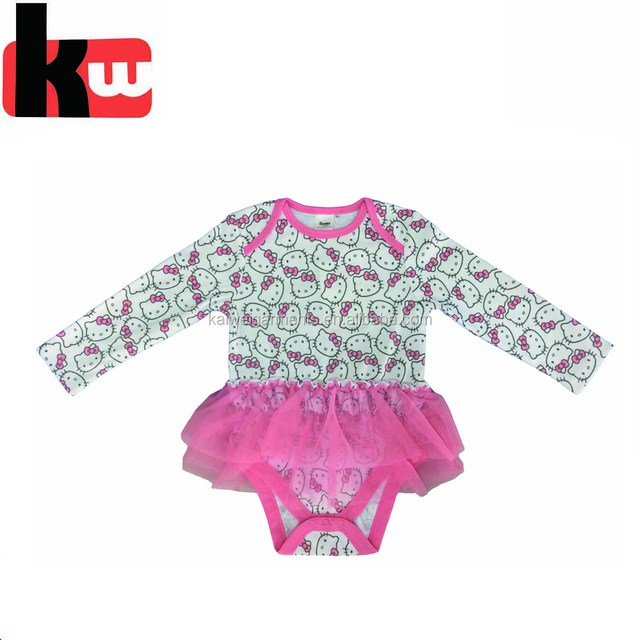 Top quality little baby girl bubble skirt/ cotton rompers dress