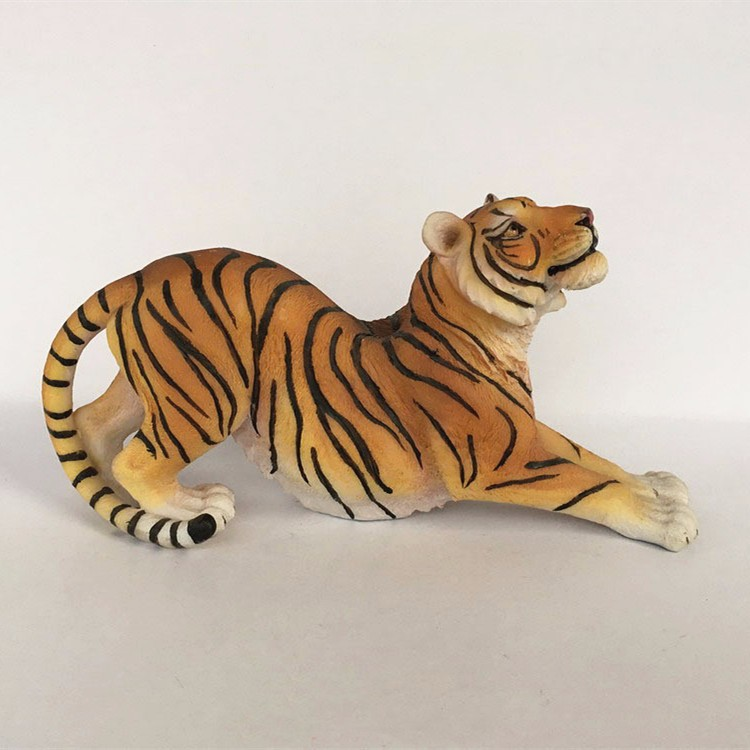 Custom quality resin animal artificial tiger statue craft