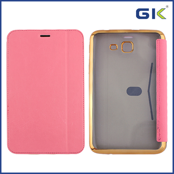[GGIT] New Electroplating Tablet Holster TPU+PU Flip Cover For Samsung Galaxy Tab 4 lite t116 Case