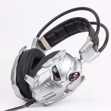 wholesale wired stereo headphones 3D game dedicated flash earphone hands free computer headset creativity helmet design
