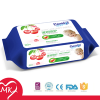 Delicate high quality plastic containers for natural organic white label skin care baby wipes