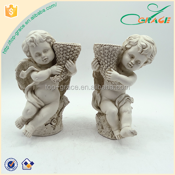 Decorative home gardens arts crafts figure polyresin garden angel