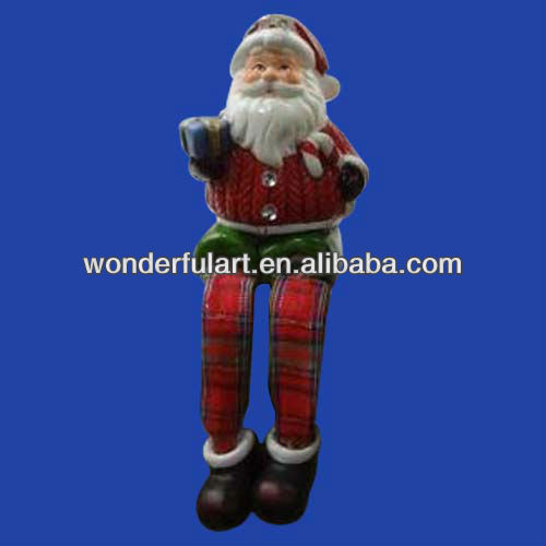 decorated santa claus with cloth leg