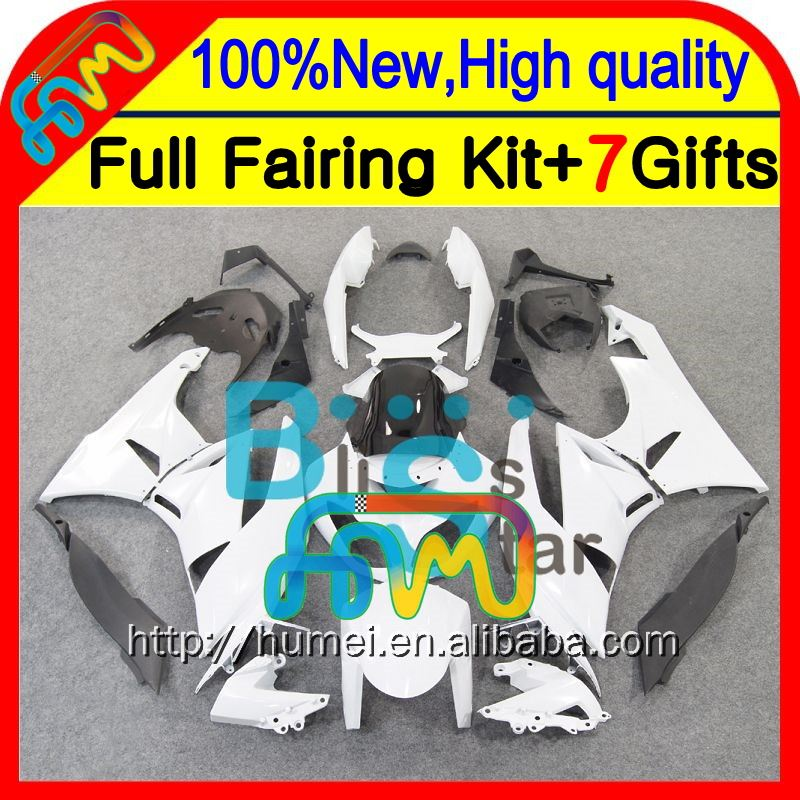 Body Fairing For ALL White KAWASAKI NINJA ZX6R 2009 2010 2011 ZX636 CL1143 HOT ZX 6R Glossy white 636 ZX-6R ZX636 09 10 11