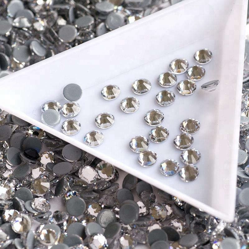 ss16 <strong>crystal</strong> clear 1440pcs round best quality flat back rhinestones hot fix with glue