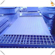 Construction steel structure composite floor steel decking grating with plate