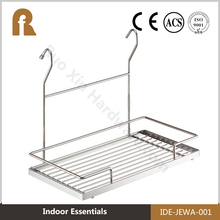 2016 Heavy Duty wall mounted stainless steel corner bathroom pole shelf