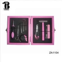 Hot sale 18pcs pink tool set