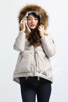 women winter clothes padded down coat woman fur down jacket 2015