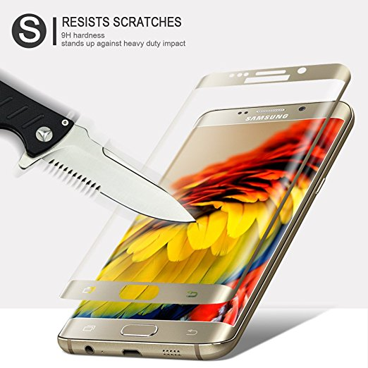 For Galaxy S7 Edge Tempered Screen Protector , LIGHTDESIRE HD Crystal Screen Protector for Samsung S7 edge