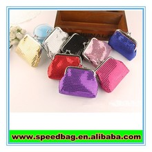 Shiny womens money clip wallet small purse pouch