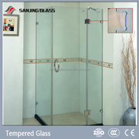 Tempered clear glass for bathroom glass partition