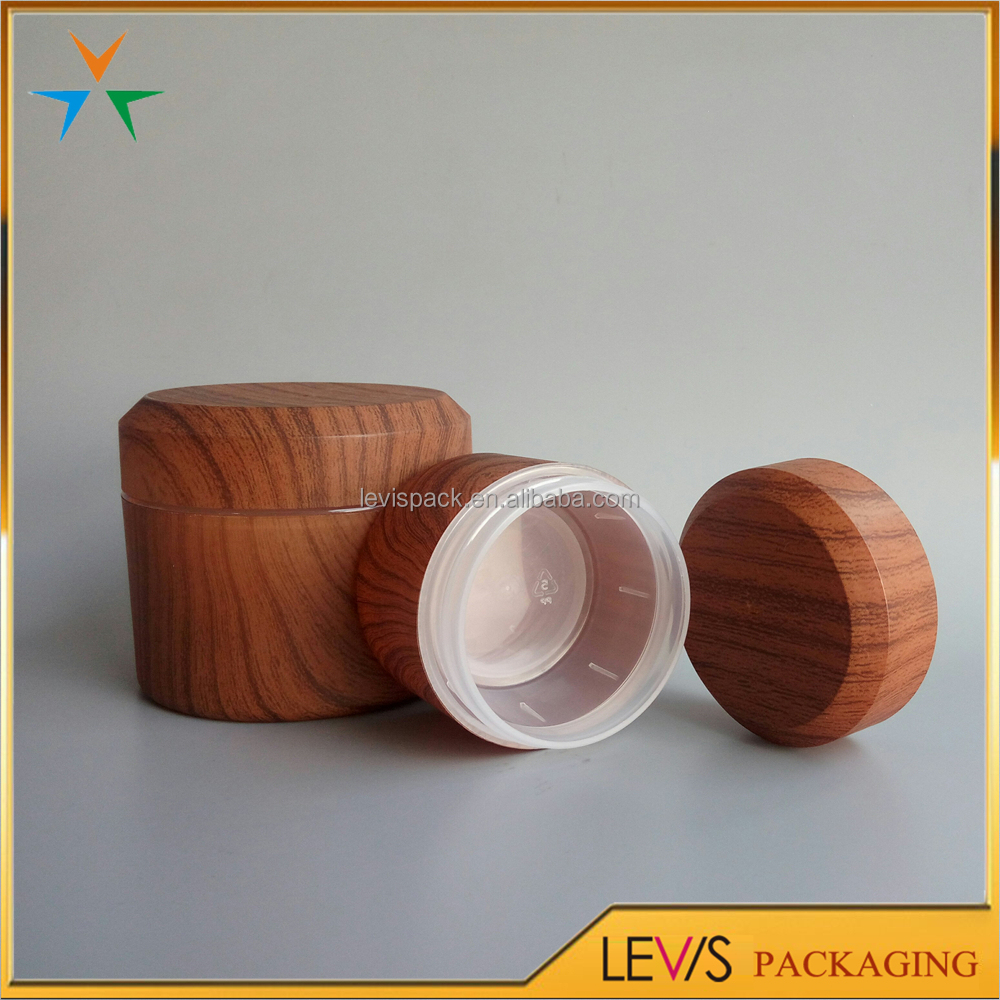 New design cosmetic packaging wooden cosmetic containers bamboo cream jar