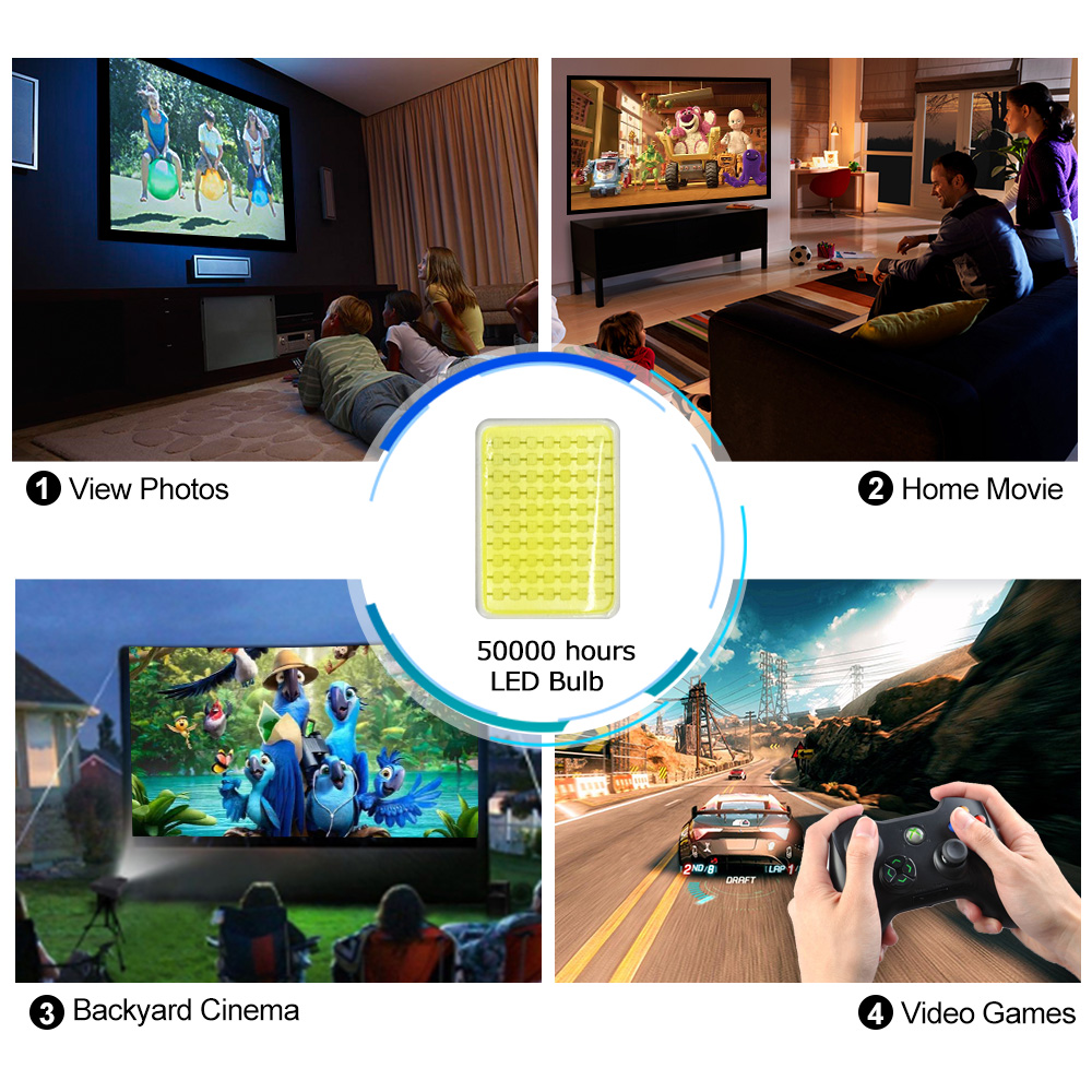 2600Lumens led projector android wifi bluetooth projector