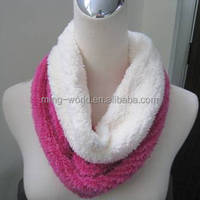 Warm and Light Weight Twin Color Knitted Scarf