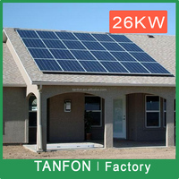 Big powe solar plant 20kw solar panel system for Industry and commerical type
