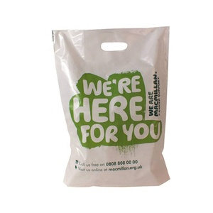 High Quality Custom Printed Corn Starch Biodegradable Shopping Carry Grocery Promotional Plastic Bags Wholesale