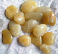 Top natural decorative yellow polished river pebbles