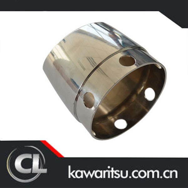cnc machining precision machined parts for motorcycle exhaust silencer